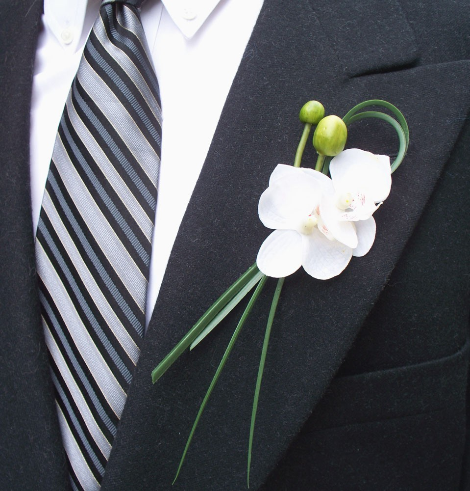 wedding boutonnieres by contempo, Natural flower