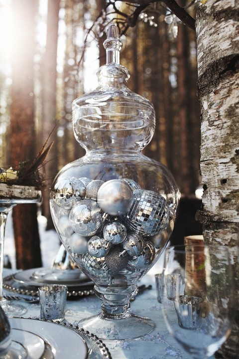 Shimmering silver & a touch of winter ♥