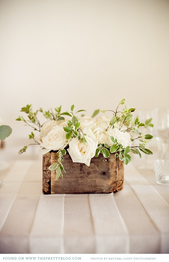 Rustic crates for a vintage style wedding