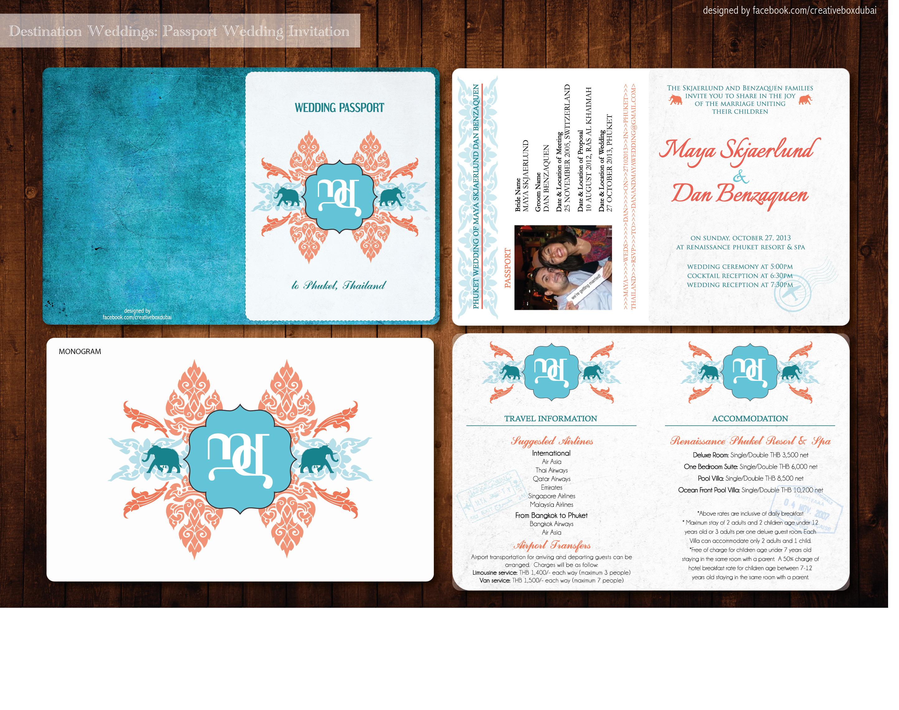 A Thailand inspired wedding passport ♥