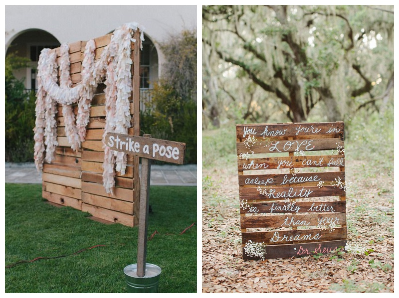 PALLETS FOR A WEDDING
