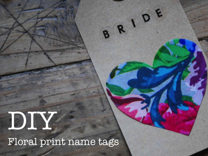 Diy Floral Print Name Tags