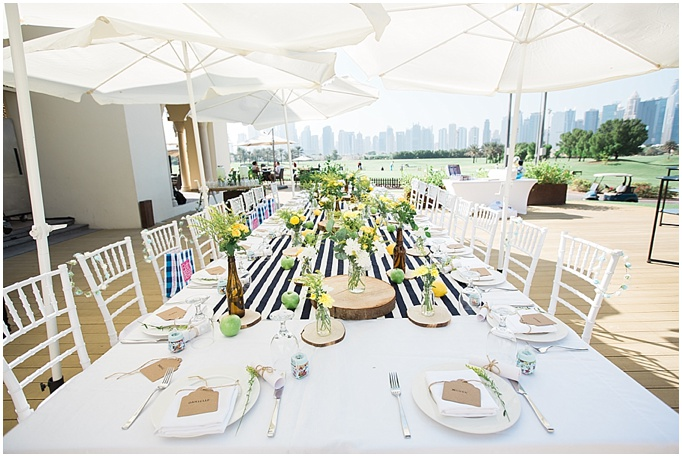 Baby Showers Dubai ~ Lovely styling u a yellow blue baby shower the address montgomerie