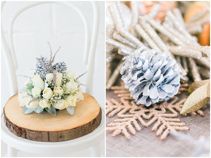 FESTIVE TABLE STYLING - CHRISTMAS DECOR - SILVER, RUSTIC WOOD AND GOLD