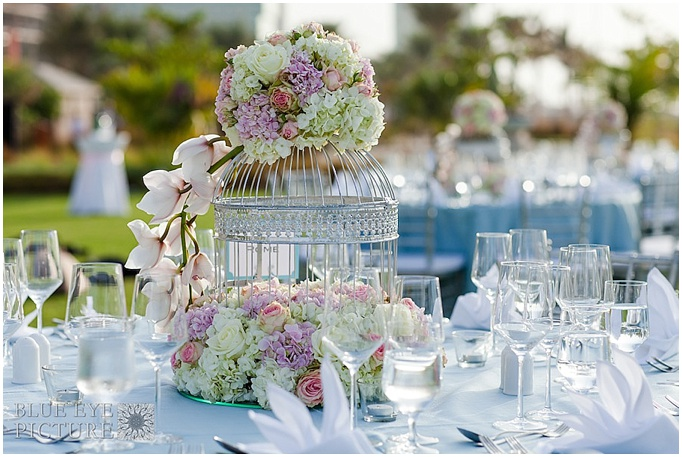 A pretty teal outdoor wedding The Ritz Carlton Dubai