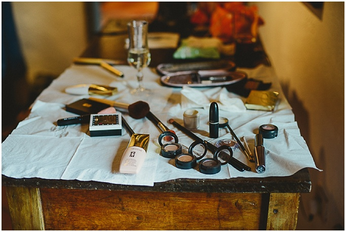 Rustic wedding in Tuscany - Featured on My Lovely Wedding Blog. - Makeup close up