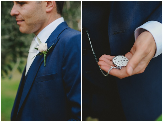 Rustic wedding in Tuscany - Featured on My Lovely Wedding Blog.  - A groom and his pocket watch. Wedding day style!!!
