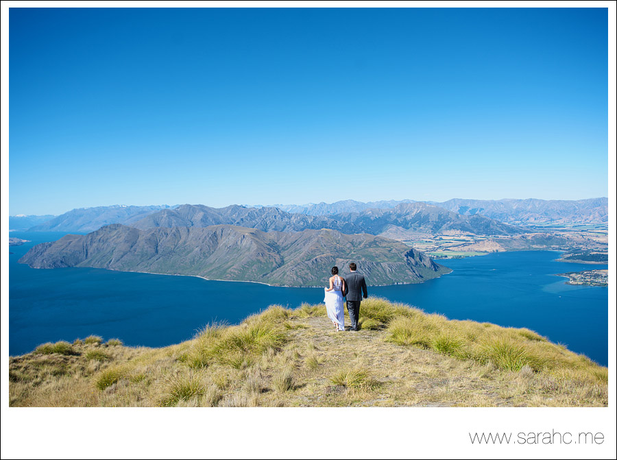 Breathtaking views & DIY details. A New Zealand wedding by Sarah C Photography.