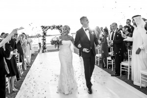 Dubai wedding on Palm Jumeirah- Photographed by Blue Eye Picture.