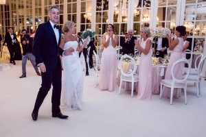 Dubai wedding - Decor theme - pink and glam with white dior chairs