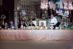 Head table - blush pink and gold theme wedding in Dubai