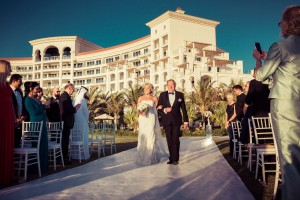 Wedding ceremony - The father and the bride