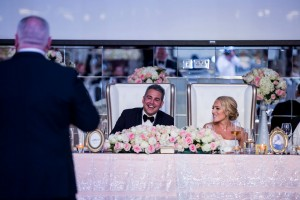 Head table - blush pink and gold theme wedding in Dubai