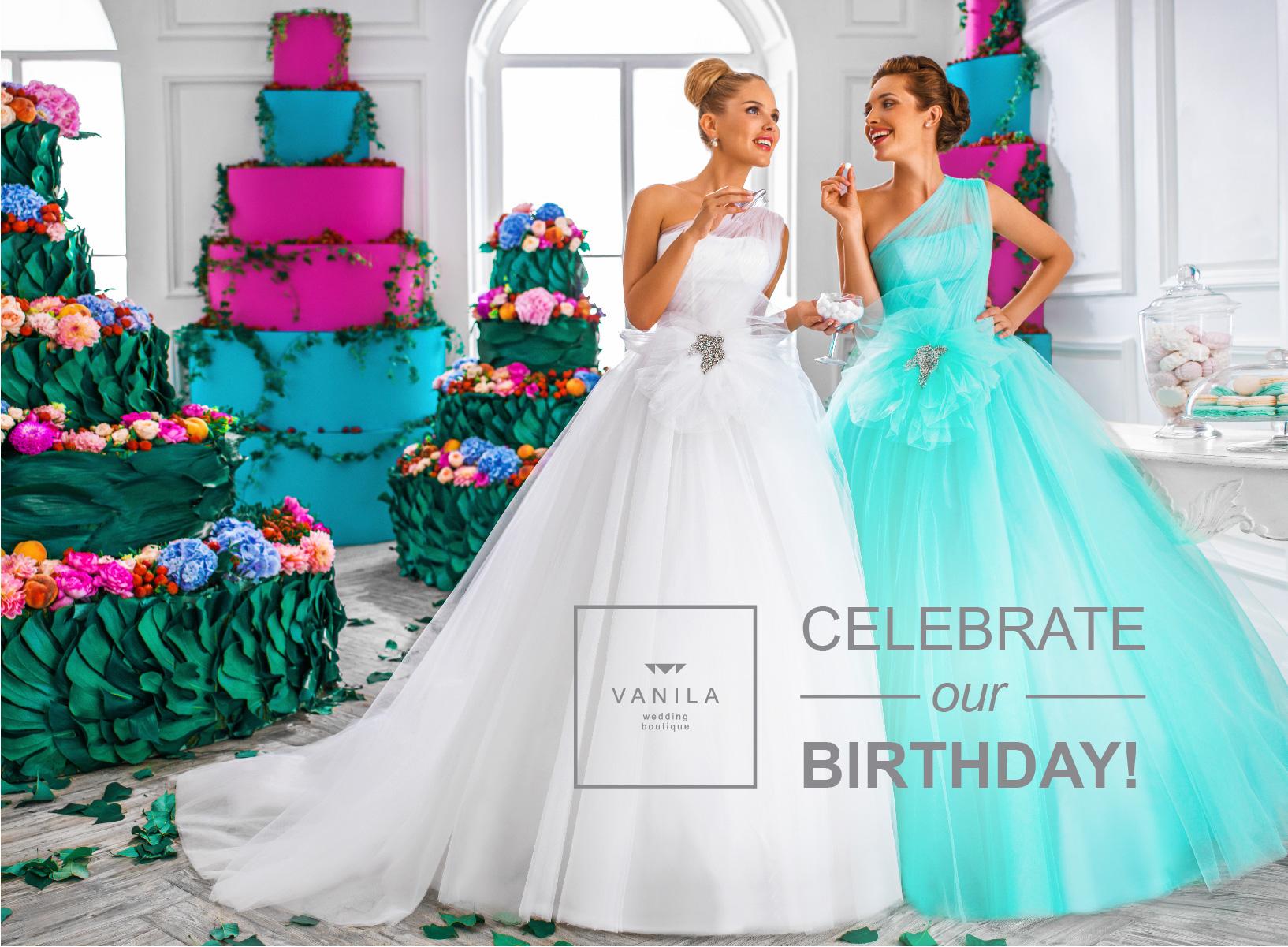 Happy anniversary to VANILA Wedding Boutique…