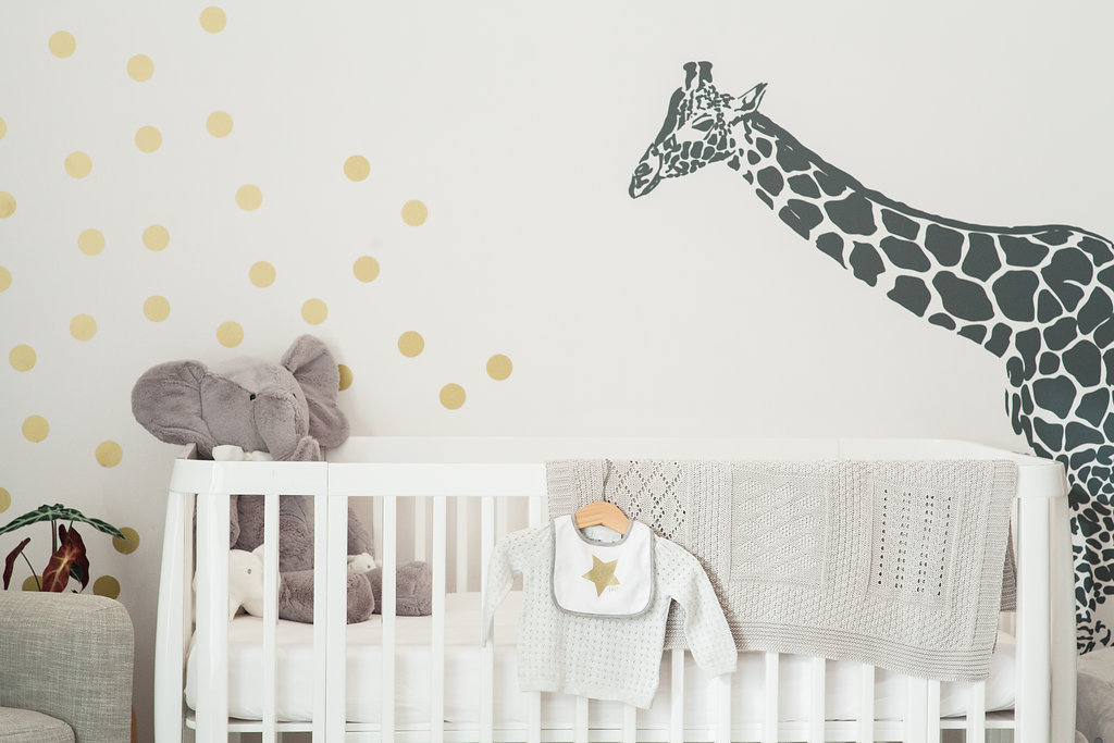 Nursery decor and a big baby bump…