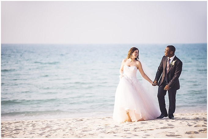 Elena + Sam - Dubai Beach wedding