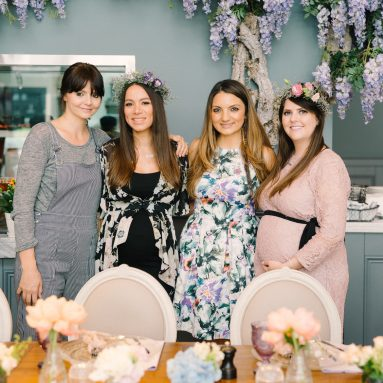 A wedding industry double baby shower at Aubaine, City Walk