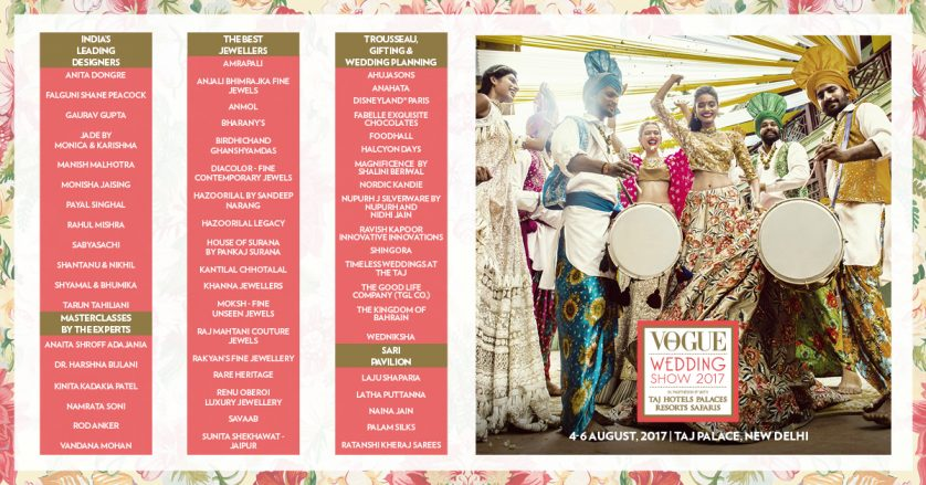 THE VENDORS – THE VOGUE WEDDING SHOW IS BACK FOR ITS 5TH EDITION FROM AUGUST 4-6