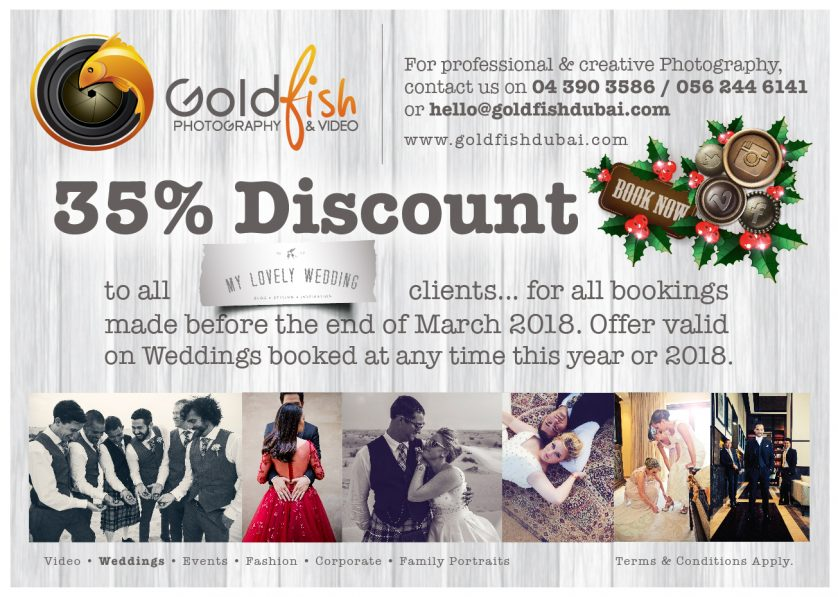 FESTIVE OFFER FROM GOLDFISH PHOTOGRAPHY + VIDEO