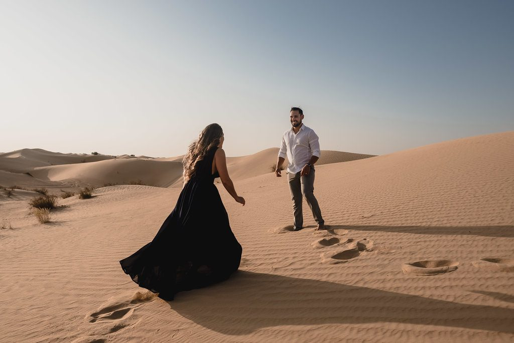 Desert Engagement Shoot by Bernie + Bindi - Dubai wedding photographers