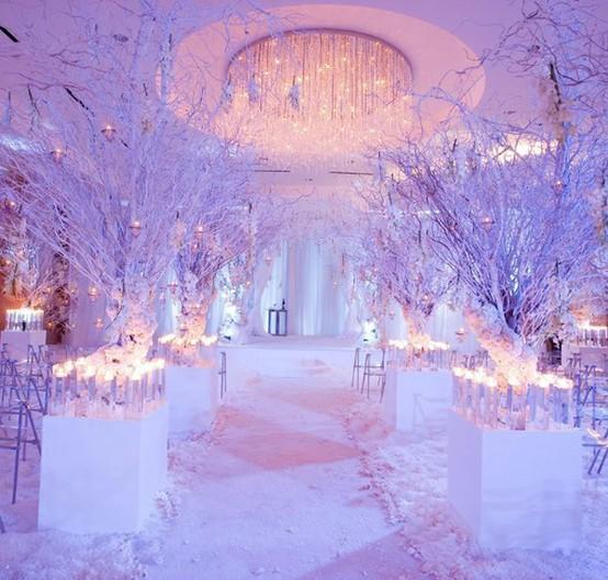 Winter Wedding Ceremony Ideas: Winter Wonderland Wedding…