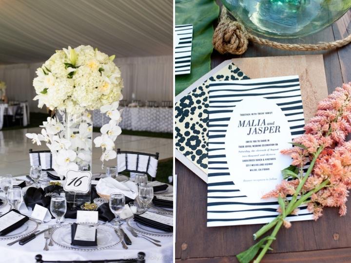 Black & White print wedding inspiration ♥