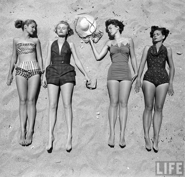 Beach - Vintage Photo
