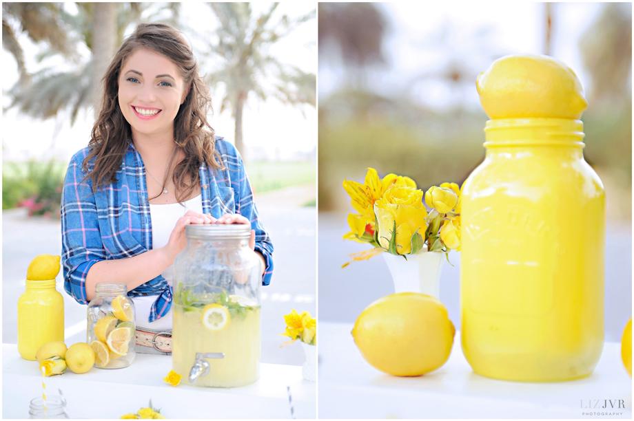 Katie & Sash's lemonade stand shoot