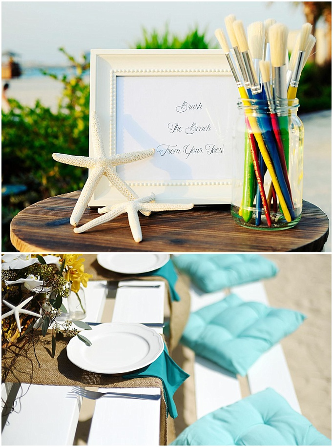 A beach wedding styled shoot with Aghareed {Dubai wedding planners}