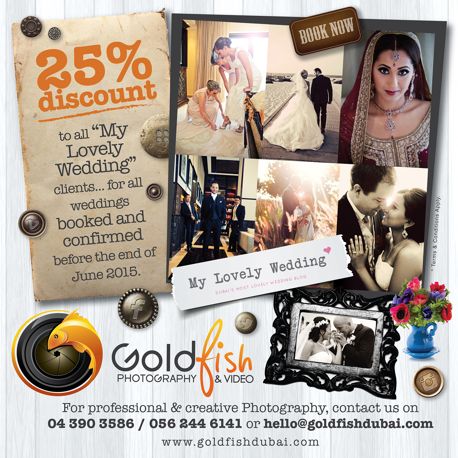 25% off wedding photography & video for all MLW readers before the end of June!