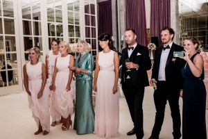 The bride and groom on the dancefloor - Dubai wedding on the palm.
