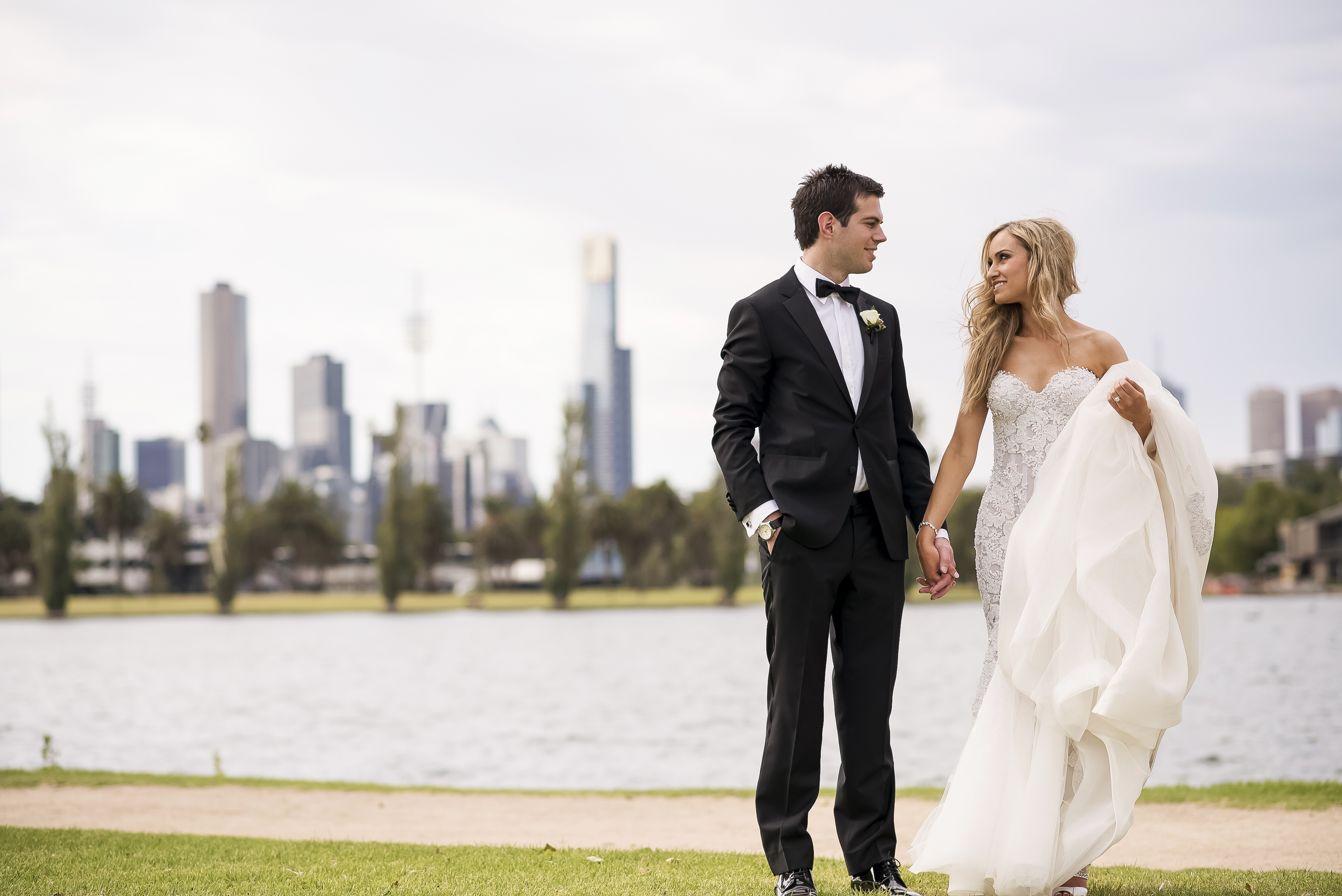 A modern venue with some very pretty flora… Elise and Julian's lovely wedding in Melbourne {Blumenthal Photography}