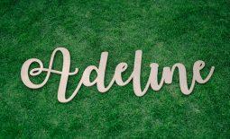 LASER CUT NAME - BABY GIRL ADELINE